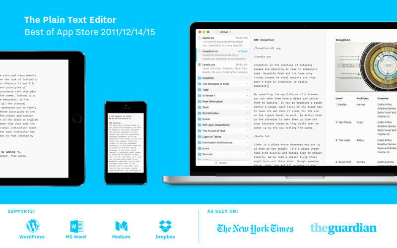 《iA Writer 4.0.4 for Mac 破解版 专业的写作套件》