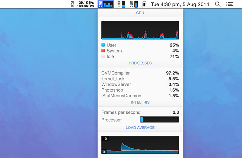 《iStat Menus 5.32 (740) 破解版 macOS系统监控软件》