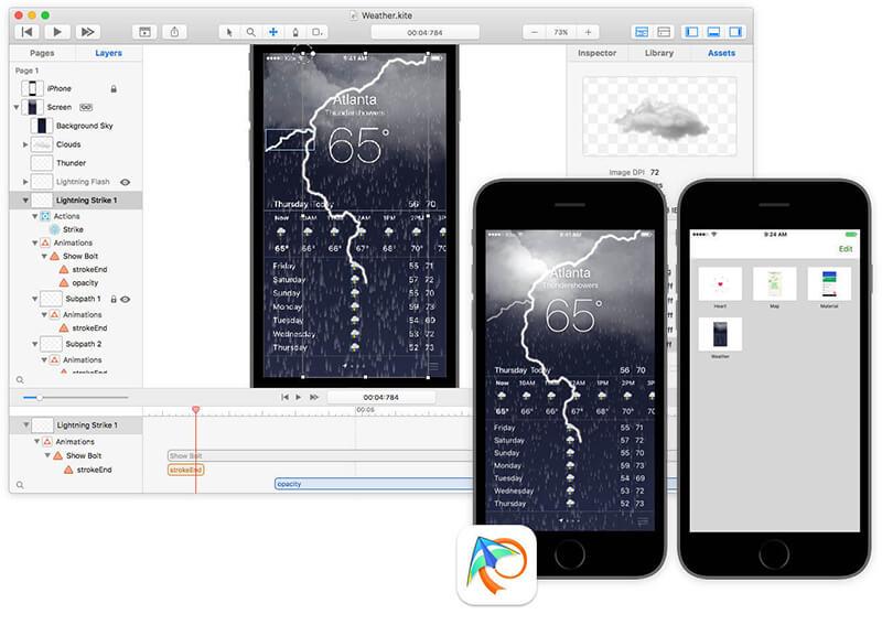 《Kite Compositor 1.5 for Mac 破解版 MacOS和iOS的动画和原型设计》