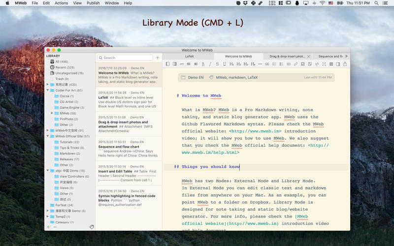 《MWeb 3.3.7 for Mac 破解版 强大的Markdown应用》