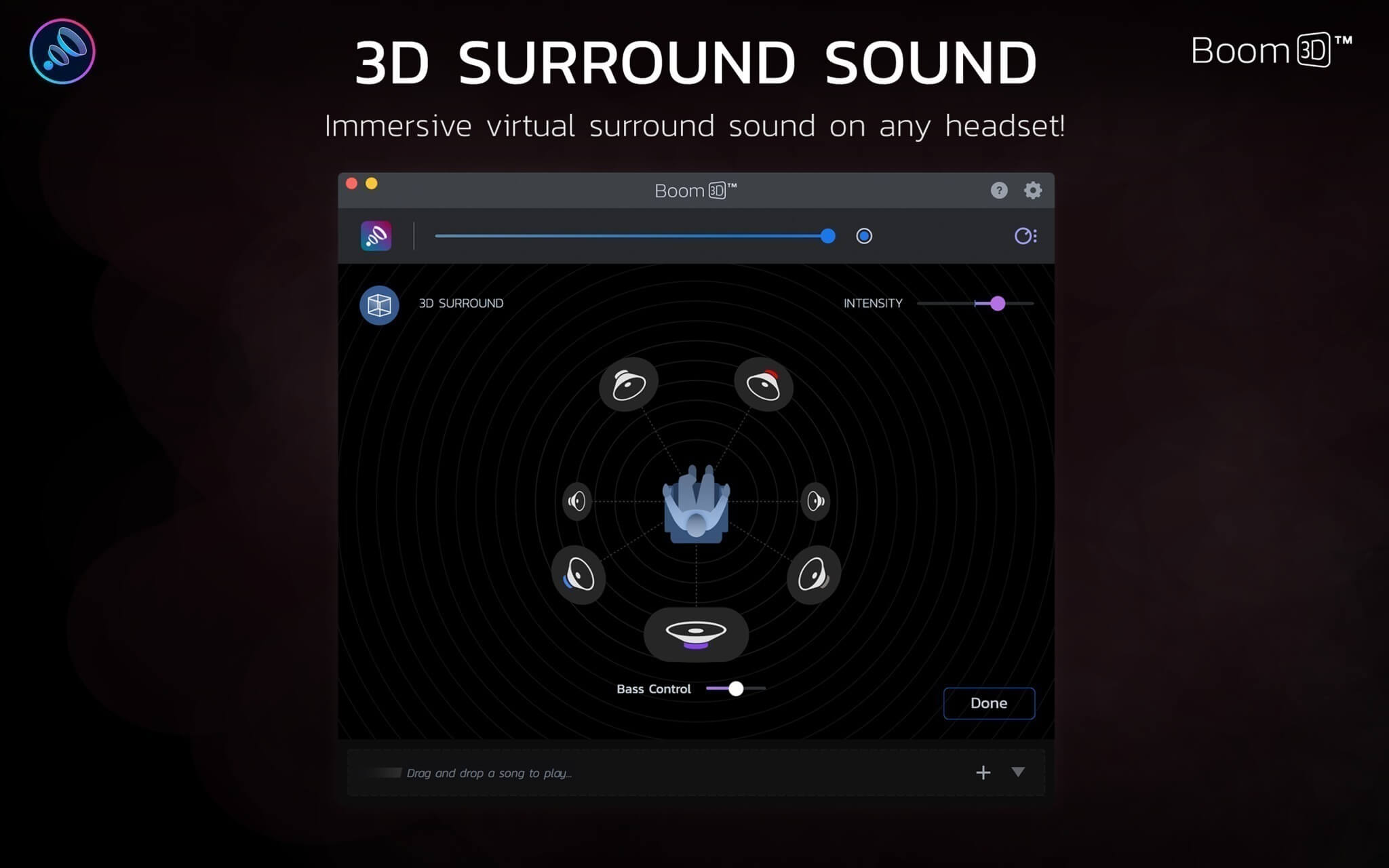 《Boom 3D for Mac 1.1 破解版 3D环绕音效软件》