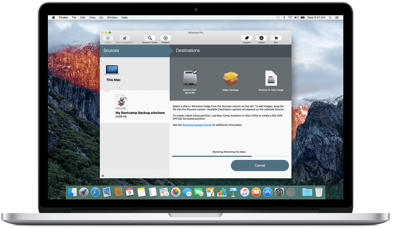 《Winclone 6.1.6 for Mac 破解版 克隆你的Boot Camp分区》
